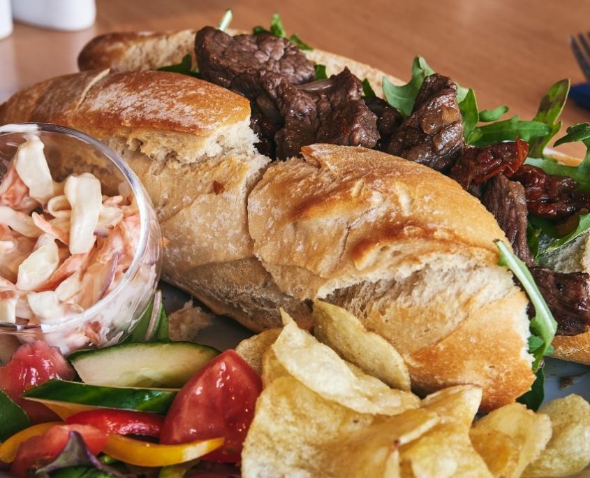 Steak Sandwich at The Dornoch Coach House