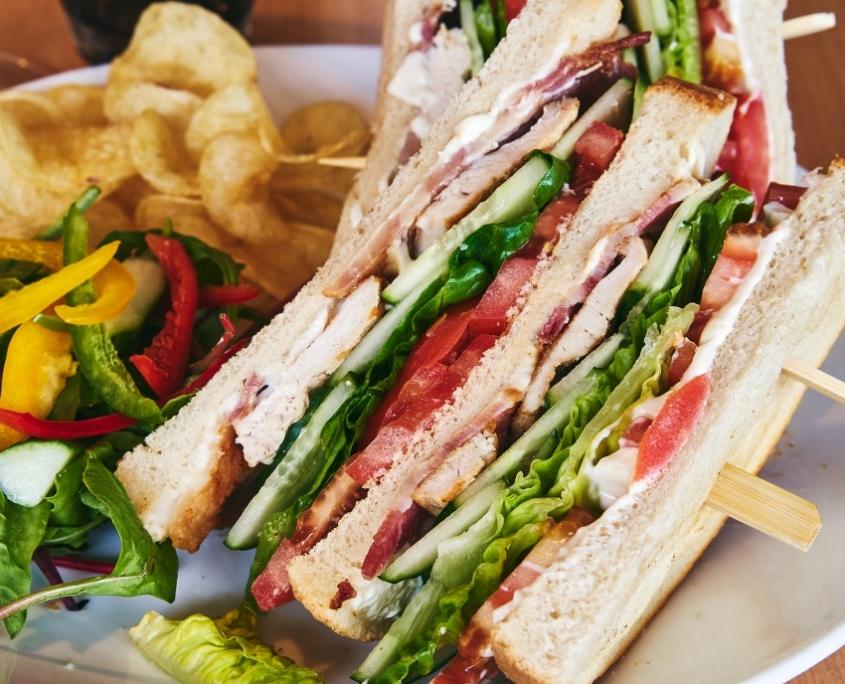 Club Sandwich at The Dornoch Coach House
